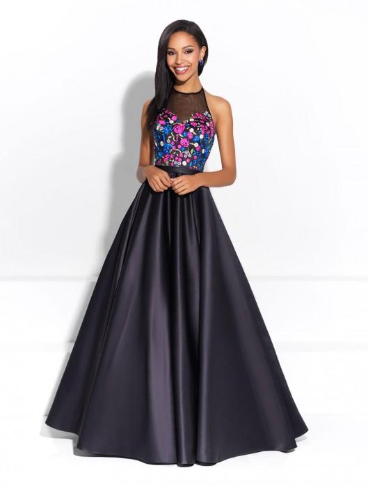 09d2b6840c7 Madison James 17-294 Halter Neck Prom Dress  French Novelty