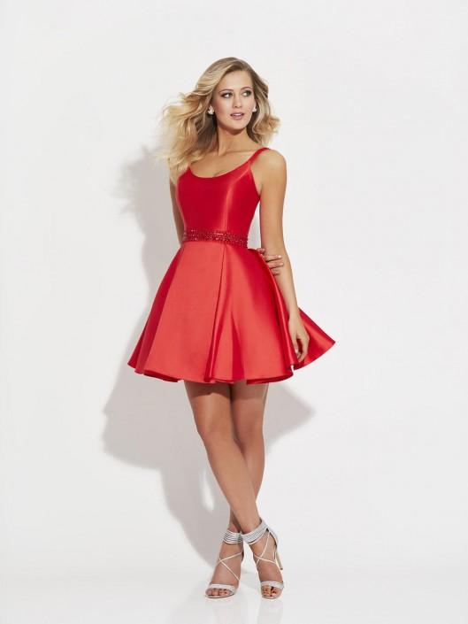 bd6a33578 Madison James 17-508 Silk Mikado Mini Homecoming Dress: French Novelty