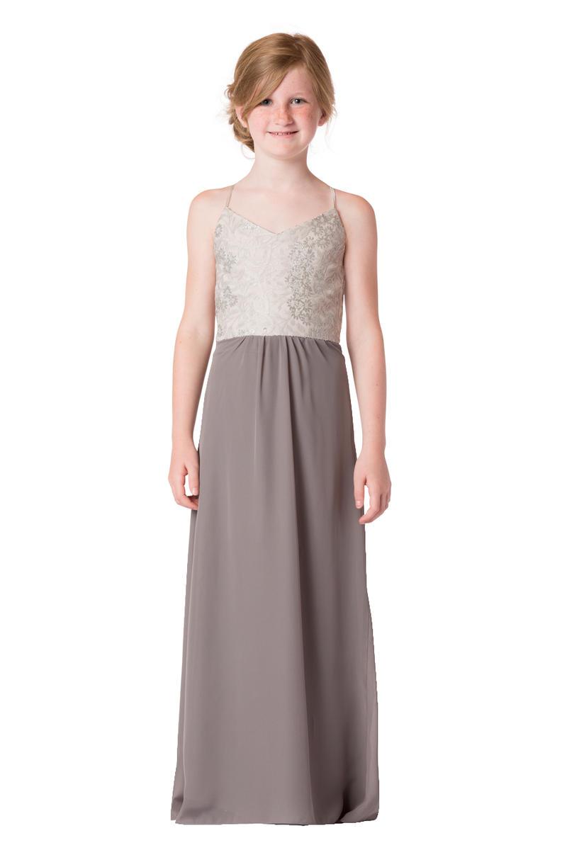 Bari Jay 1705jr Sequin Junior Bridesmaid Dress French Novelty