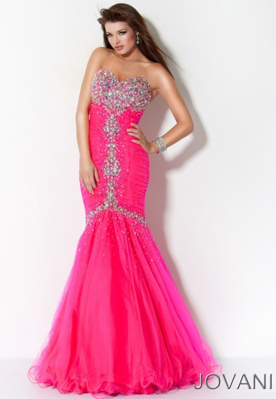 Jovani Drop Waist Long Prom Dress with Jeweled Bust 171174: French ...