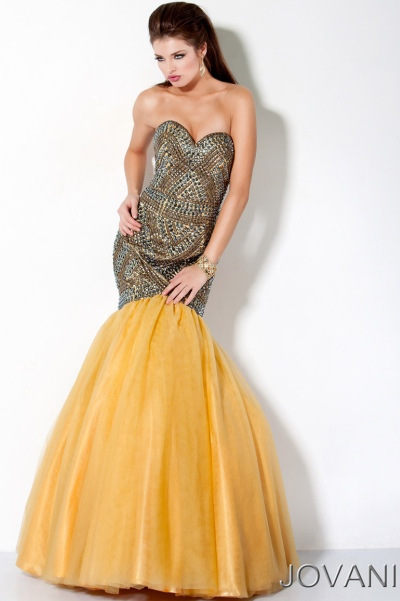 Yellow Jovani Prom Dresses 17