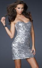 fa8ea738885 Size 0 Silver La Femme Perfect Cocktail Dress 17231