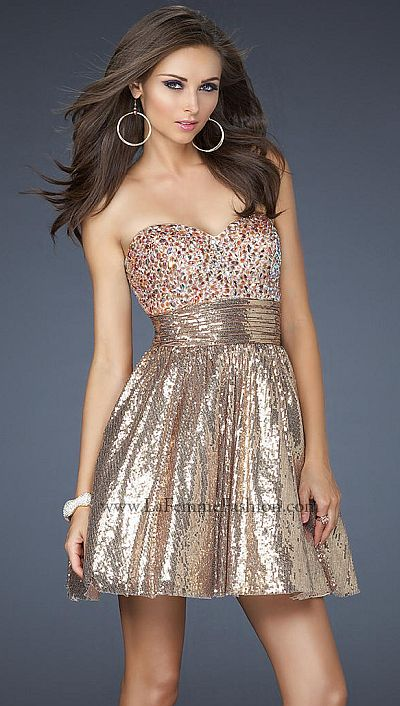 La femme fun flirty sequin cocktail prom dress 17263 french novelty