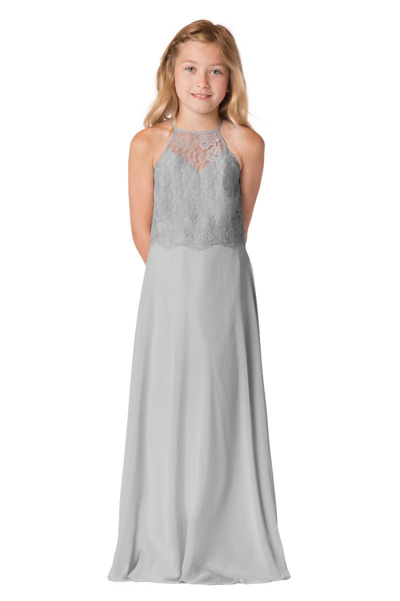 Bari Jay 1727jr Lace Junior Bridesmaid Dress French Novelty