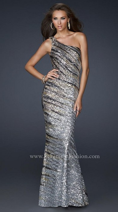 La Femme Stretch Sequin Wow Factor Prom Dress 17303: French Novelty