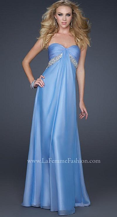 2012 Prom Dresses La Femme Periwinkle Chiffon Dress 17318: French ...