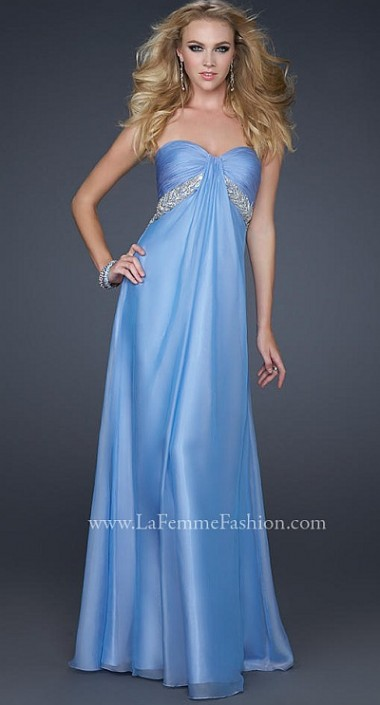 2012 Prom Dresses La Femme Periwinkle Chiffon Dress 17318: French ...