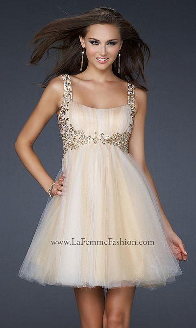 La Femme Goddess Inspired Short Prom Dress 17500: French Novelty