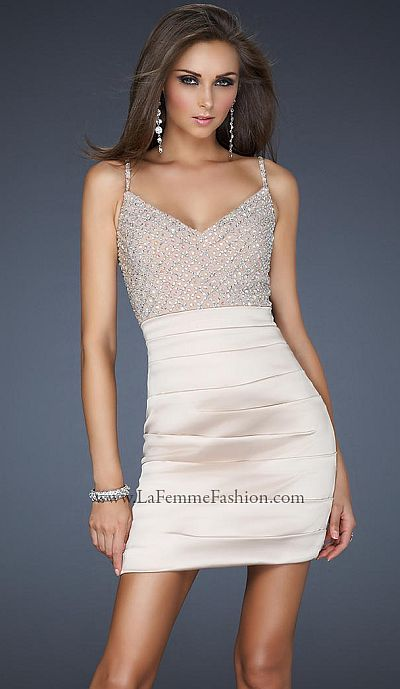 Short Fitted Prom Dress