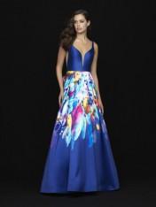 e33ed2c1a7 Size 0 Royal-Multi Madison James 18-693 Beautiful Print Prom Dress