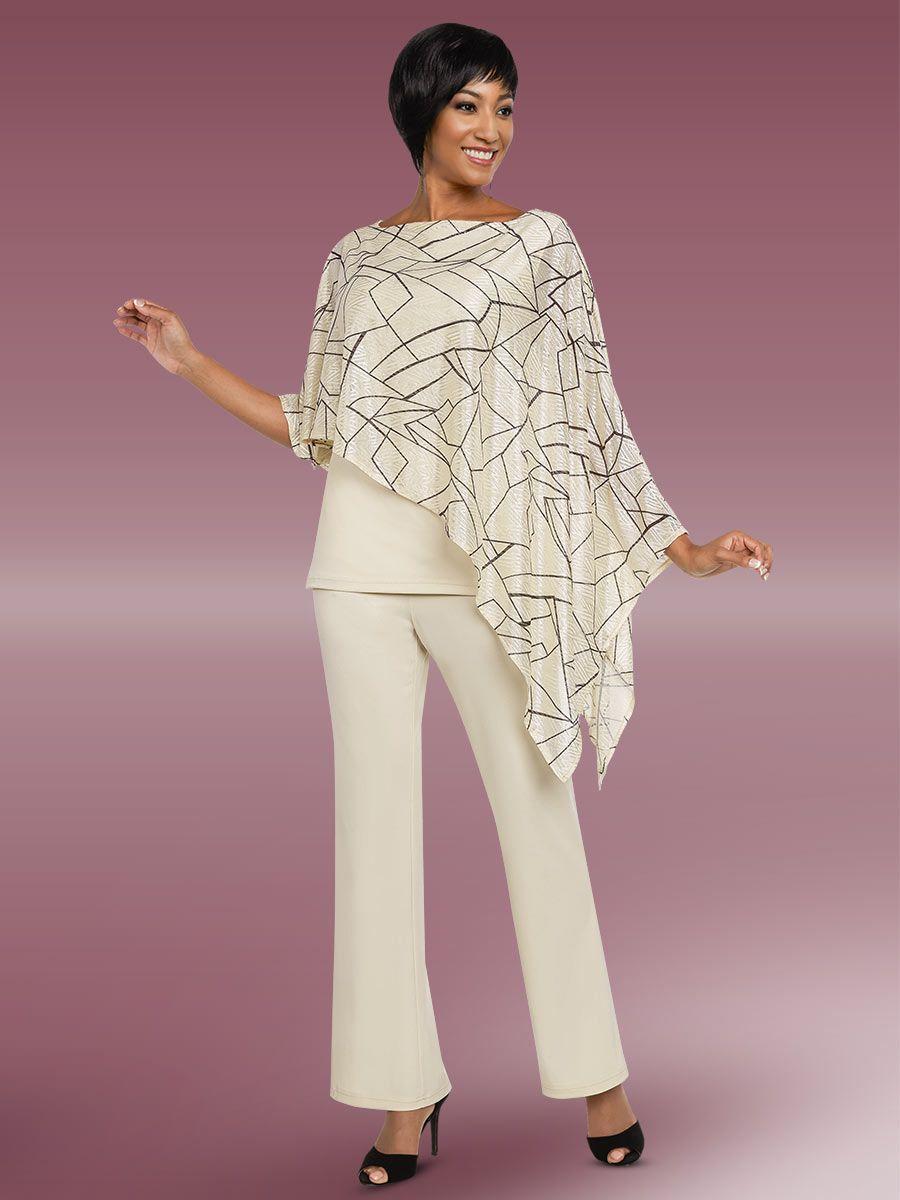 Ben Marc Casual Elegance 18287 Ladies Pant Suit French
