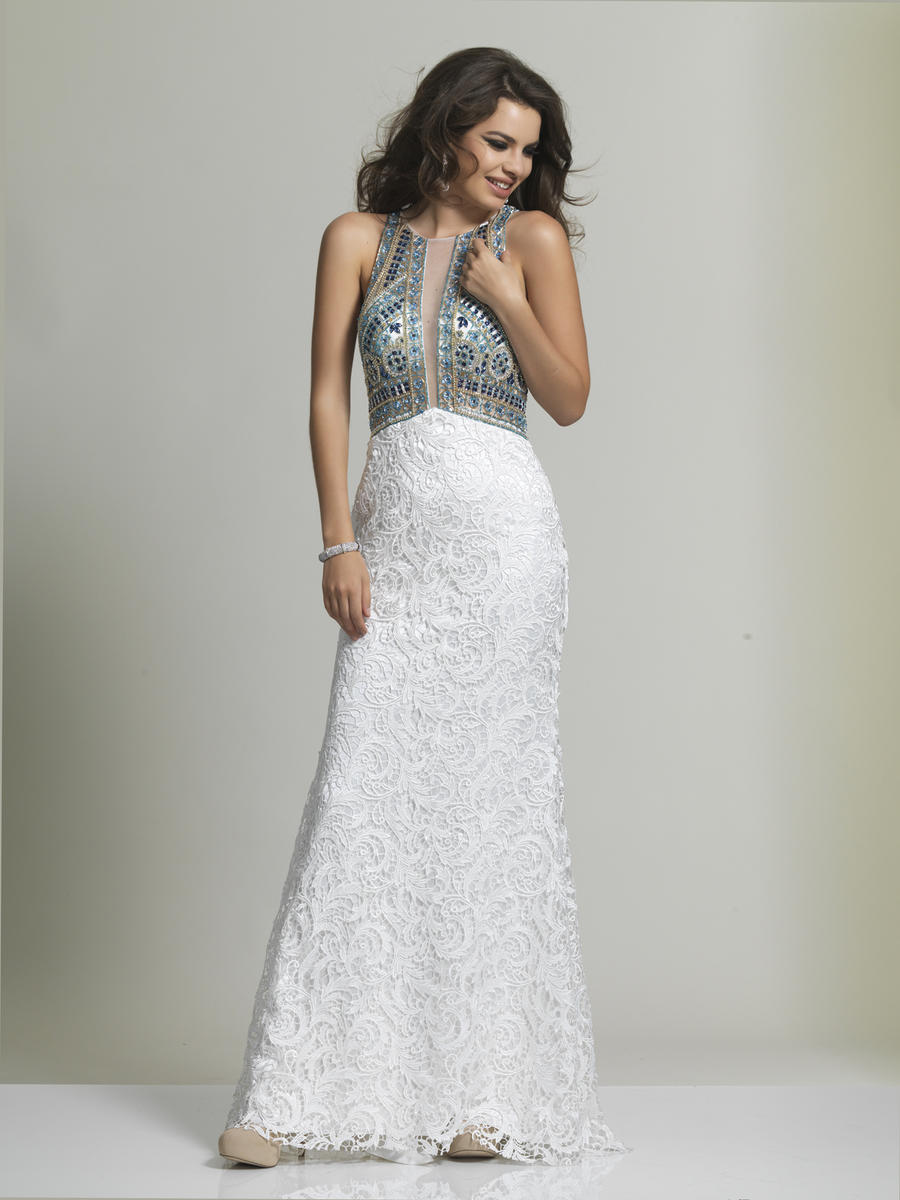 Dave and Johnny 1838 Lace Evening Gown: French Novelty
