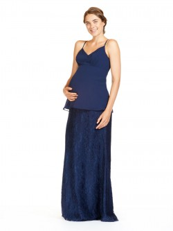 5e31bcbe14851 Bari Jay 1839-M Separate V Neck Maternity Bridesmaid Top
