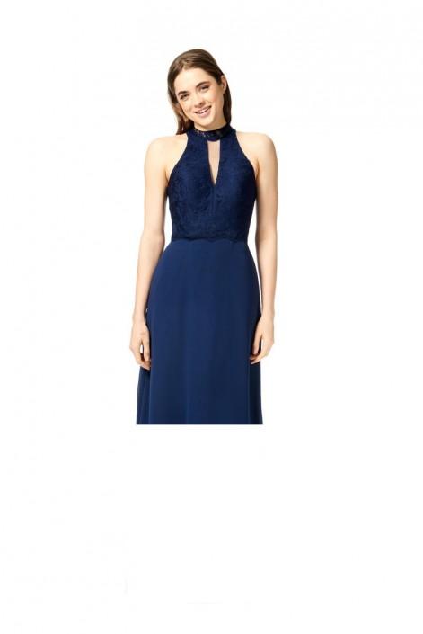 f0c24fe7d27b Bari Jay 1855-S Lace Choker Short Bridesmaid Dress: French Novelty