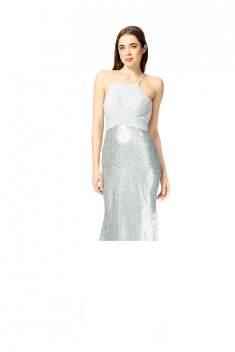 fc27a71c711 Bari Jay 1873-S Sequin Skirt Short Bridesmaid Dress  French Novelty