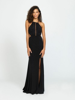 72e1fb56c3 Madison James 19-110 Open Back Prom Gown