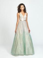 416907899db47 ... Studio 17 12736 Shining Liquid Taffeta Prom Dress.  283.79. Size 8  Silver-Aqua Madison James 19-136 Stunning Glitter Prom Gown