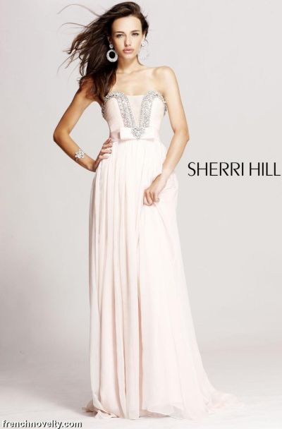 Sherri Hill Blush Long Ball Gown Prom Dress 1900: French Novelty