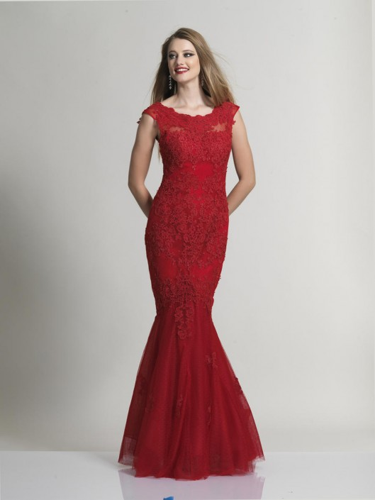 c55c5bd020d8 Dave and Johnny 1937 Embroidered Lace Prom Gown: French Novelty