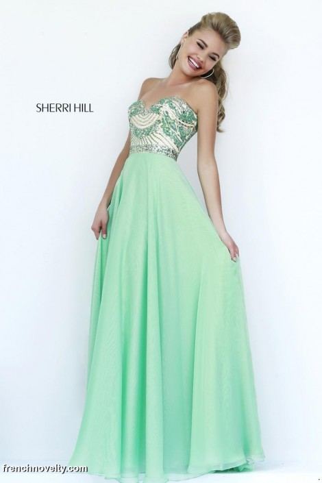 Sherri Hill 1942 Beaded Formal Dress: French Novelty