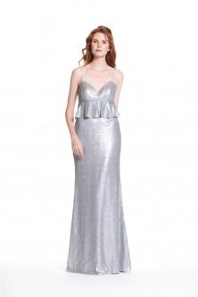 3093aac3763 Bari Jay 1946 Peplum Sequin Bridesmaid Dress