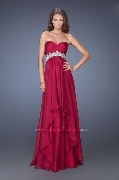 Size 14 Midnight Blue La Femme 19744 Vintage Beaded Evening Dress ...
