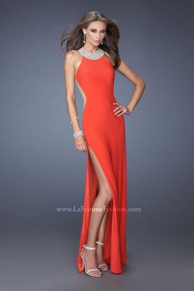 High Neck Halter Long Prom Dress