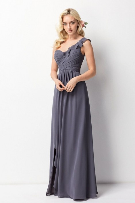 Wtoo 201 One Shoulder Ruffle Bridesmaid Gown: French Novelty