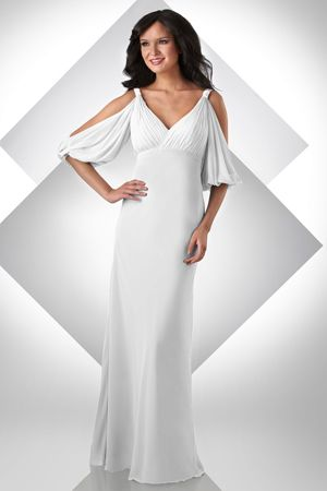 Bari Jay Grecian Cold Shoulder Destination Wedding Dress 2016: French Novelty