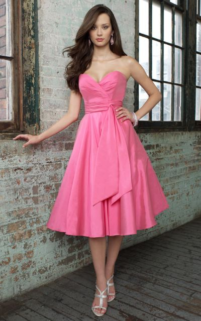 Mori lee angelina faccenda short silky taffeta bridesmaid for Mori lee taffeta wedding dress