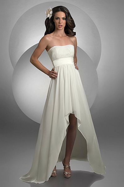Bari Jay High Low Strapless Destination Wedding Dress 2022 French Novelty
