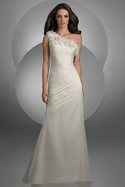 Bari Jay One Shoulder Destination Wedding Dress With Flowers 2023 French No