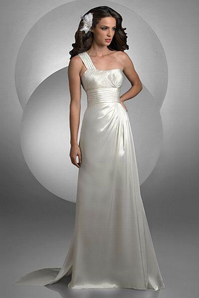 One Shoulder Grecian Wedding Dresses