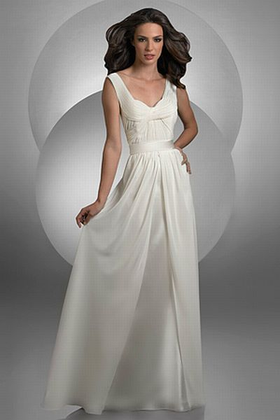Bari Jay Sleeveless Long Chiffon Destination Wedding Dress 2025 French Novelty