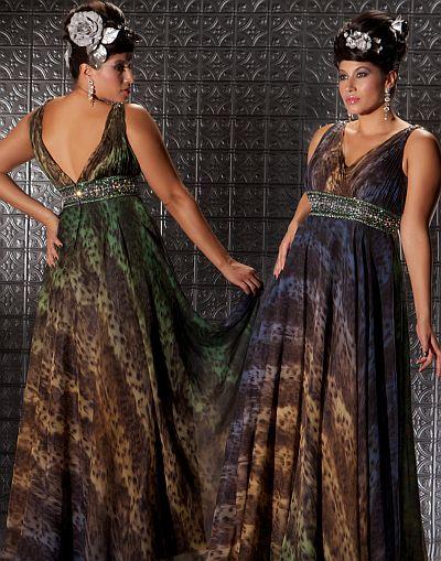 Fabulouss Animal Print Plus Size Prom Dress by MacDuggal 2033F ...