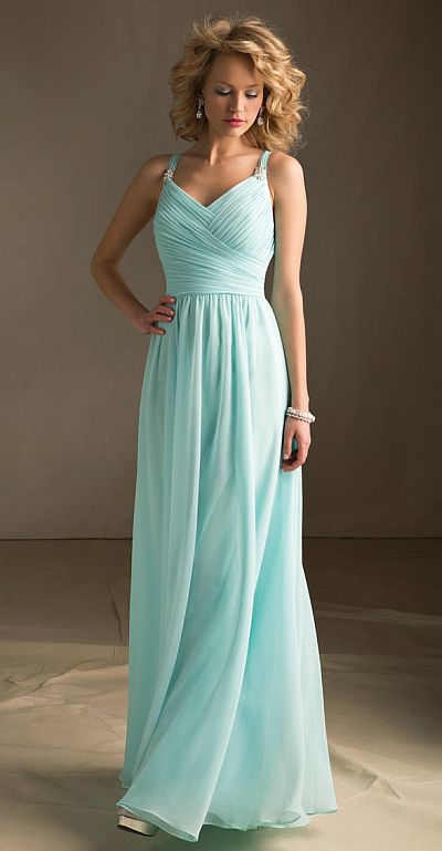 Angelina Faccenda 20412 Luxe Chiffon Bridesmaid Gown