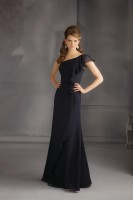 Size 14 Black Angelina Faccenda 20436 One Shoulder Bridesmaid Gown image