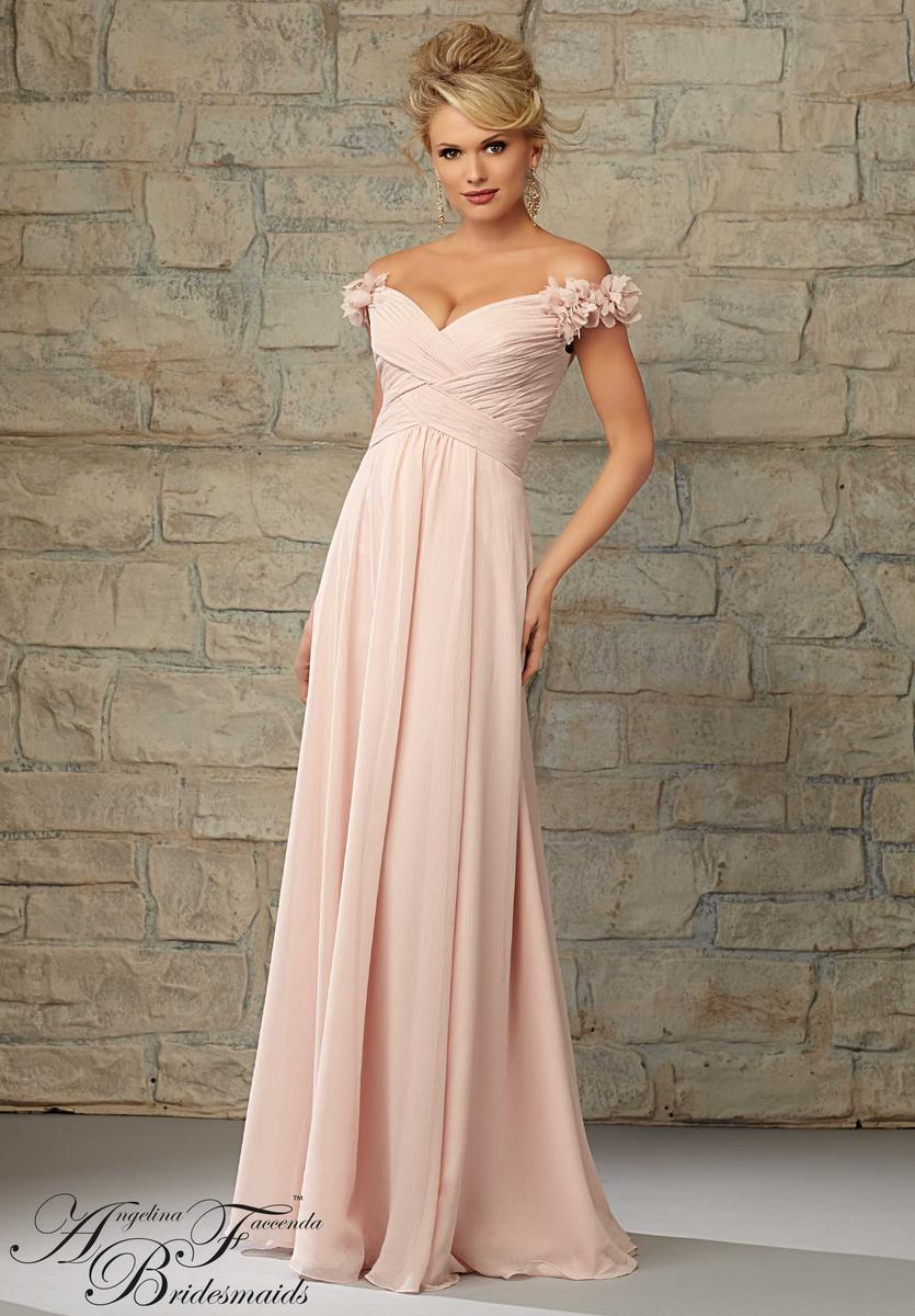 Angelina Faccenda 20453 Off The Shoulder Bridesmaid Dress