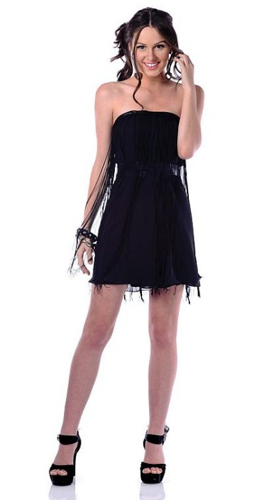 Black Babydoll Cocktail Dress