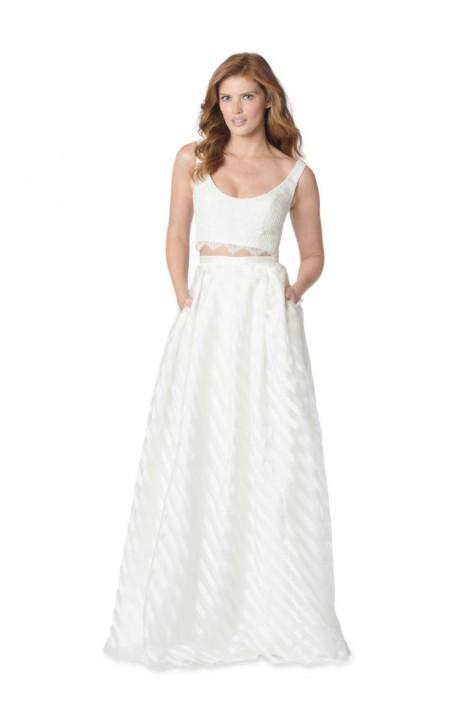 Bari Jay Whites 2059 Informal 2pc Wedding Dress