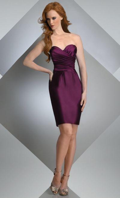 Bari Jay Short Strapless Slim Bridesmaid Dress with Pockets 206 ...