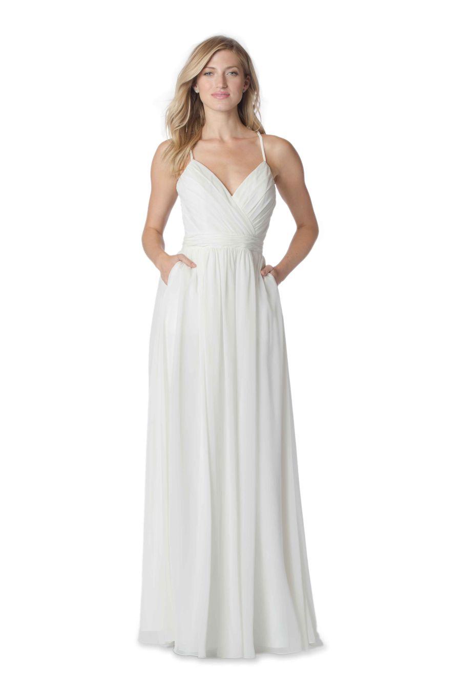 Bari jay whites 2060 v neck destination wedding dress for Dresses for destination wedding