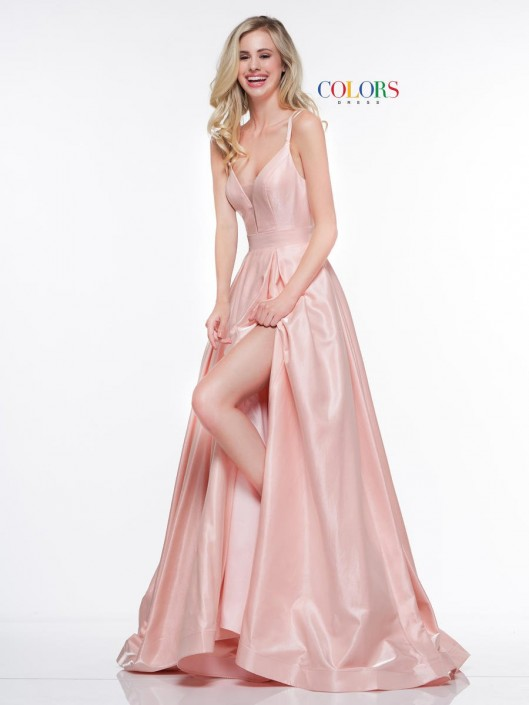 Size 14 Blush Colors Dress 2062 Prom Gown With Strappy Back French