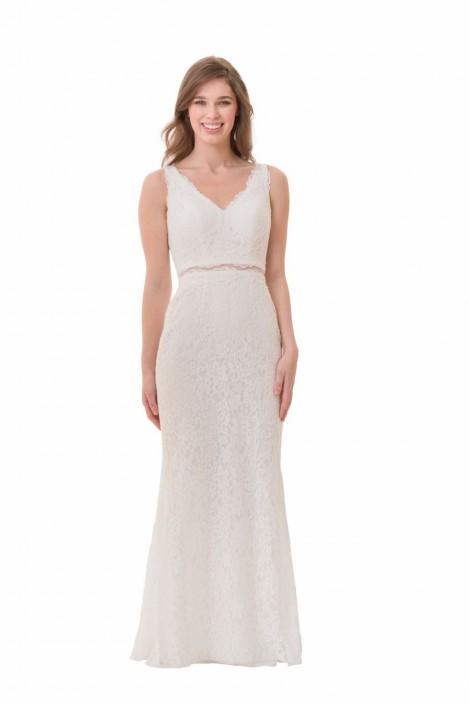 Bari Jay Whites 2066 Lace 2pc Destination Wedding Dress