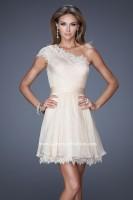 La Femme 20663 One Shoulder Short Dress image