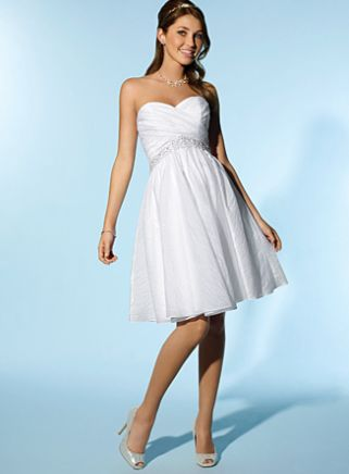 White Short Dress on Angelo Little White Dress Short Destination Wedding Dress 2077 Image