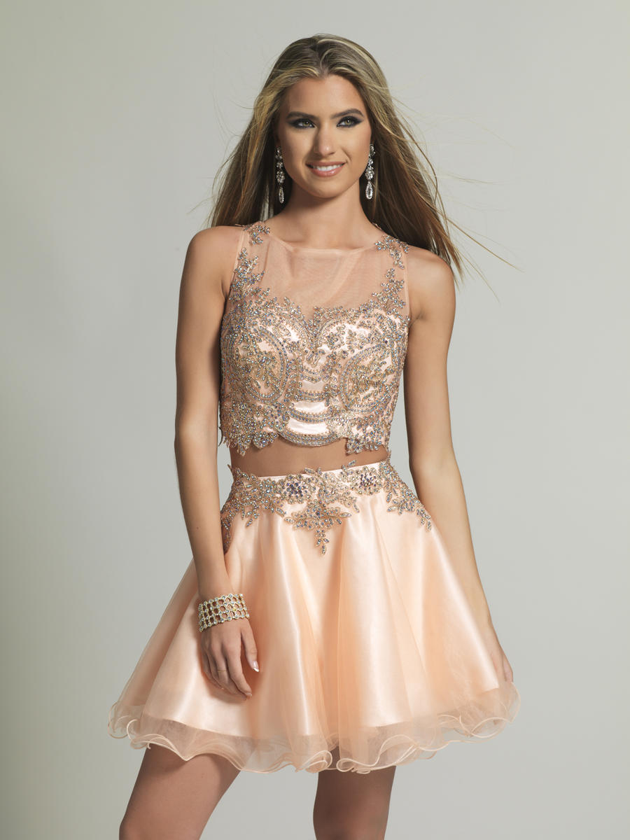 346e7b3140 Dave and Johnny 2098 Short Beaded 2pc Prom Dress  French Novelty