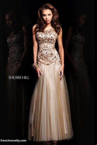Sherri Hill 21007 Dropped Waist Gown: French Novelty