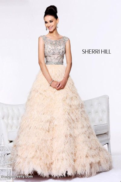 Sherri Hill 21064 Pageant Dress With Feathers French Novelty