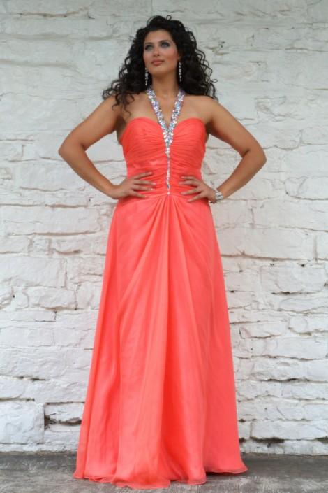 Angela and Alison 21089W Beaded V Halter Plus Size Dress